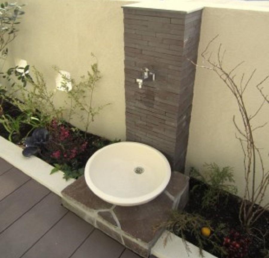 お庭に手洗い場をつくってコロナ対策をしよう